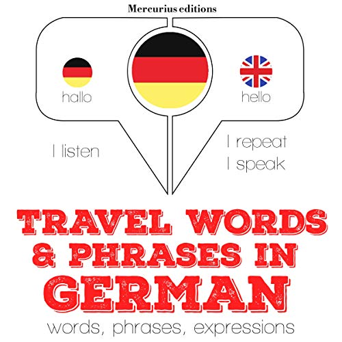 Travel words and phrases in German audiobook cover art