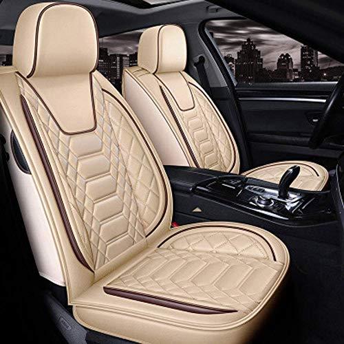 LIKE99 Autositzschutz Sitzkissen (vorne + hinten) Universal-Autositzbezüge aus Leder...