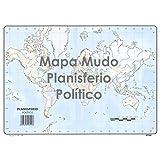 Mapa Mudo SELVI Color Din-A4 Planisferio Político, Caja x50