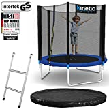 Kinetic Sports Outdoor Gartentrampolin Ø 183 cm, TPLS06, inklusive Sprungtuch aus USA PP-Mesh...