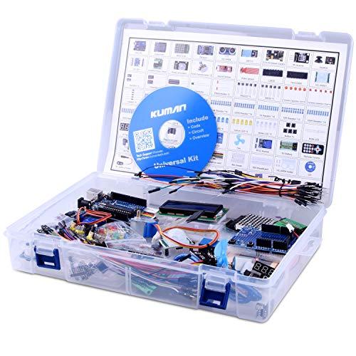 Kuman Full Ultimate Starter set and Lots of Accessories Elektronik Projekt Baukasten R3 Mikrocontroller Board und Zubehöre für ArduinoIDE K27(Mit deutschen Lernmaterialien)