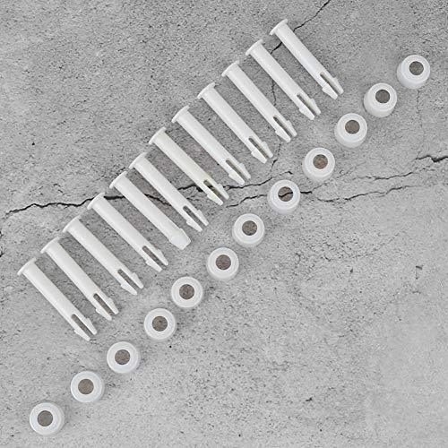 Atyhao 12Pcs 2.6in Plastic Pool Joint Pins Metal Frame Pools Piezas de Repuesto con Pin Cap Pool SPA Piezas de Repuesto