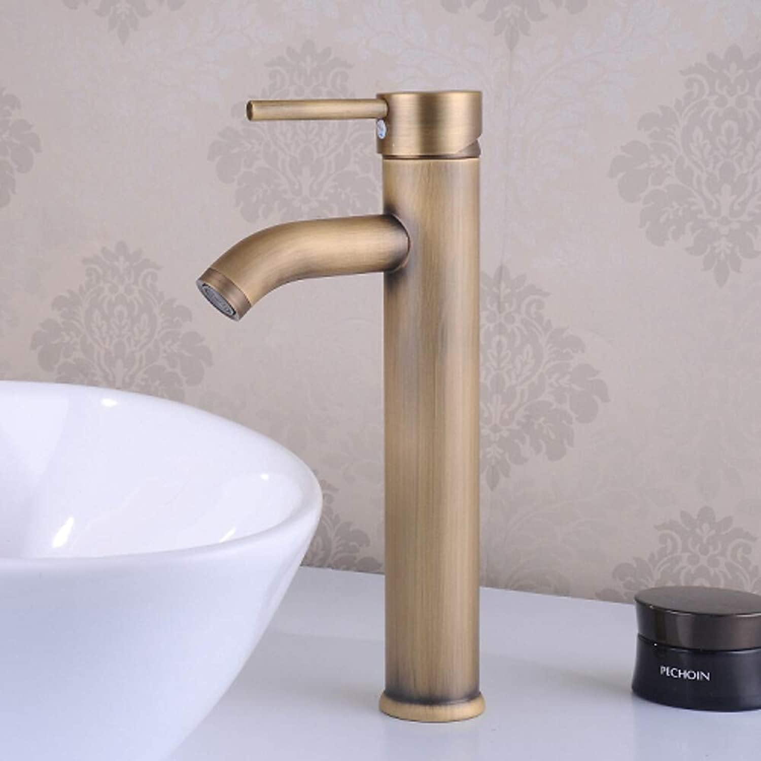 Faucettraditional Centerset Ceramic Valve Single Handle One Hole Antique Brass, Bathroom Sink Faucet