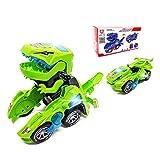 FGZU Dinosaur Transforming - Los mejores juguetes de regalo para nios, verde