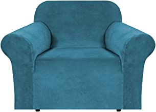 Thick Velvet Sofa Cover 1 Seater Covers for Living Room Armchair Covers Sofa Chair Covers Slipcovers Furniture Covers for ...