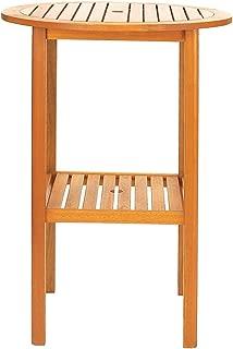 Achla Designs Eucalyptus Wood Indoor Outdoor Bar Set Table