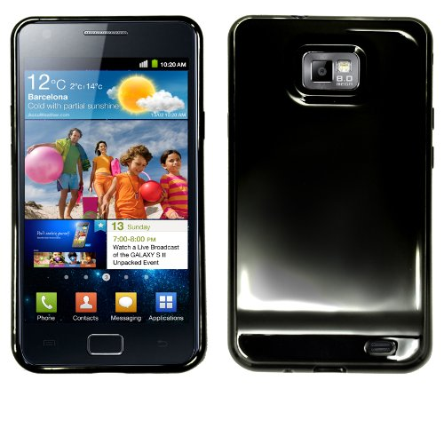 Slabo TPU Schutzhülle für Samsung I9100 Galaxy S II | Galaxy S 2 - SCHWARZ