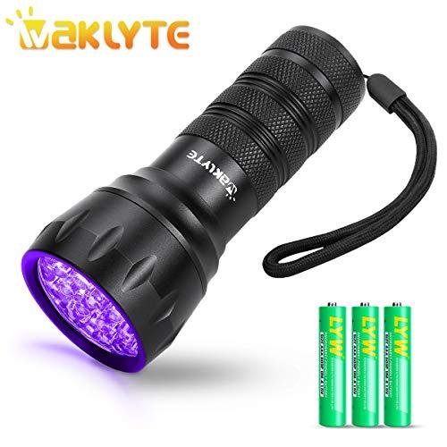 Waklyte Black Light, Mini UV Flashlight, 21 LED 395 nm Ultraviolet Blacklight Detector for Dog...