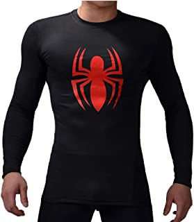 Superhero for Man Shirt Long Sleeve Casual and Sports 3D Print Compression Shirt