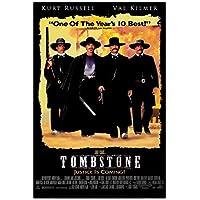 トゥームストーン(1993)ヴィンテージ映画のポスターとプリント壁アートキャンバス絵画リビングルームの家の装飾ギフト-50x70cmフレームなし