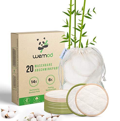 Waschbare Abschminkpads aus Bambus & Baumwolle - 20 Stück