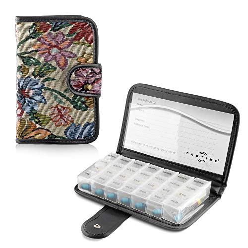 Tabtime - Cartera 7 Días Pill Wallet Con 28 Compartimientos Recordatorio Para...