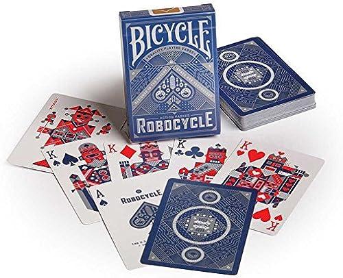 Nuevos productos de artículos novedosos. Bicycle Bicycle Bicycle Robocycle Playing Cards- azul by Bicycle  ahorra hasta un 50%