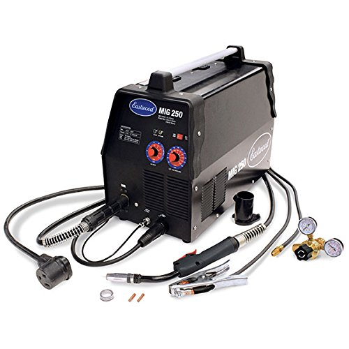 Eastwood Mig 250 Amp Welder for Aluminum Steel Flux-Core Weld 120/240V Powered Lightweight Portable