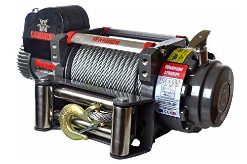 Seilwinde elektrisch 12V mit 7,9t Warrior Samurai S17500 Stahlseil – Winde für Anhänger, Auto und PKW – Outdoor & Offroad