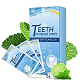 Teeth Whitening Strips Professional Effects White Tooth Soft Bristle Charcoal Toothbrush Dental Whitening Dating Party 28Pcs 14Pair (Blue)