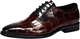 [WEWIN] ビジネスシューズ メンズ 紳士靴 革靴 本革 内羽根 冠婚葬祭 大きいサイズ ドレスシューズ 型押し 防滑 おしゃれ 履きやすい