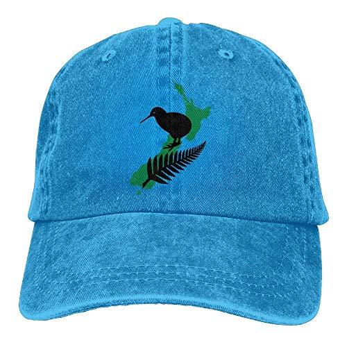 hgfyef Nueva Zelanda Maori Fern 1 Sombrero de Mezclilla Gorras de bisbol Lisas Ajustables