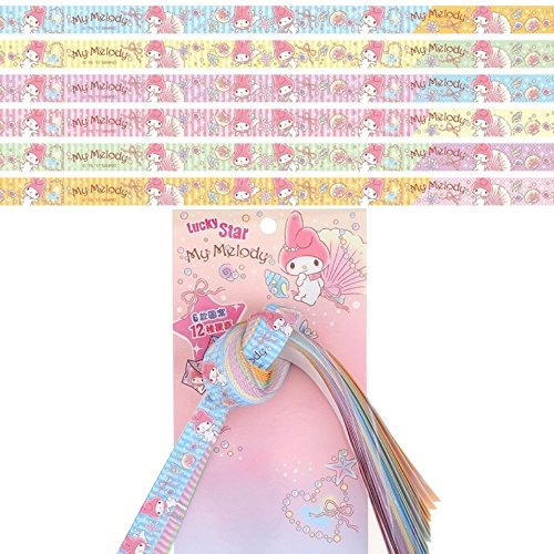 My Melody Lucky Bless Wishing Star Origami Paper 60 Strips 6 Colors