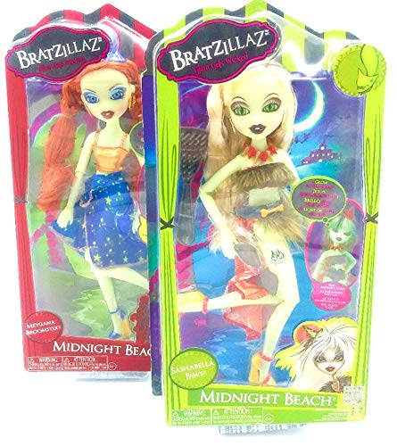 Doll Midnight Beach Magical 2 Puppen, Sashabella Paw & Meygana Broomstick
