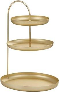 OUNONA Three-Layer Jewelry Rack Key Cosmetics Storage Tray Necklace Ring Earrings Storage Rack