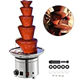 VEVOR Commercial Chocolate Fountain Machine,5-Tier Heated Commercial Retro Chocolate Fondue Fountain,68CM/27Inch...