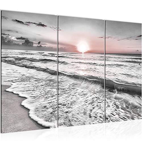 Bilder Strand und Meer Wandbild 120 x 80 cm Vlies - Leinwand Bild XXL Format Wandbilder Wohnung Deko Kunstdrucke - MADE IN GERMANY - Fertig zum Aufhängen 023731b