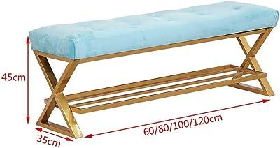 Amazon.com: CAIJUN Footstool Shoe Shelf Rack Bamboo Frame ...