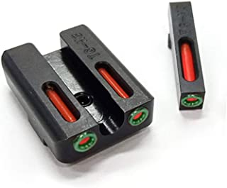 SPINA OPTICS Red Green Fiber Optic Front with Combat Rear Sights Focus-Lock Three-dots for G Better Shooting