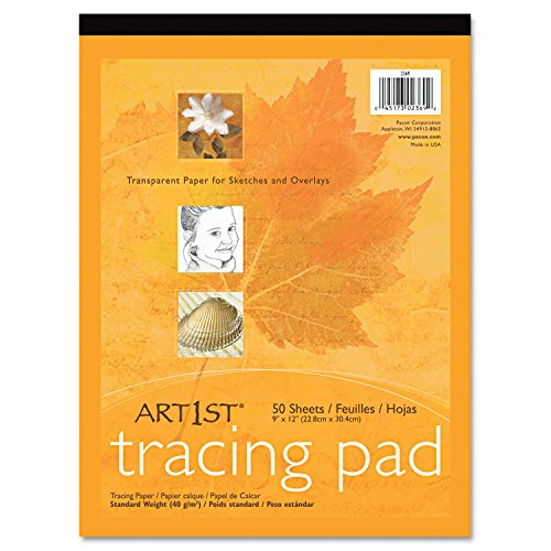 "UCreate Tracing Pad, White, 9"" x 12"", 50 Sheets"