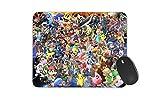 JNKPOAI A Variety of Pikachu and The Lovely Pokemon Anti-Slip Mousepad (Pokemon)