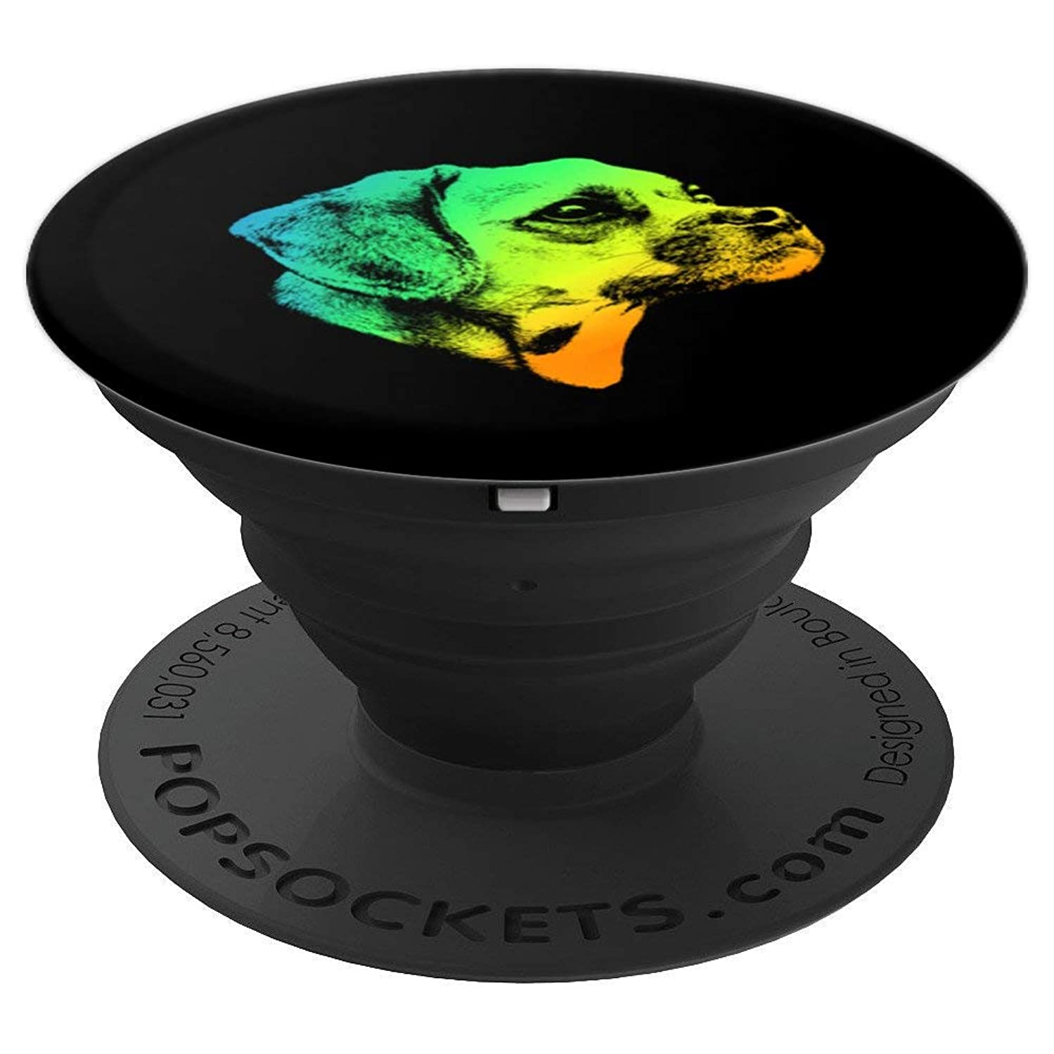 Puggle Colorful Vintage Retro - PopSockets Grip and Stand for Phones and Tablets