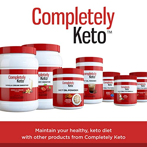 Completely Keto Shake Meal Replacement Powder for Weight Loss - Low Carb Smoothie Mix Alternative to Protein Shakes, Strawberry Flavor 8