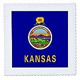 3dRose QS 158346_ 4Flagge von Kansas US American State