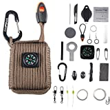 CAMPSNAIL Valentines Day Gifts for Men Dad Emergency Survival Kit Grenade - 25 Accessories First Aid...