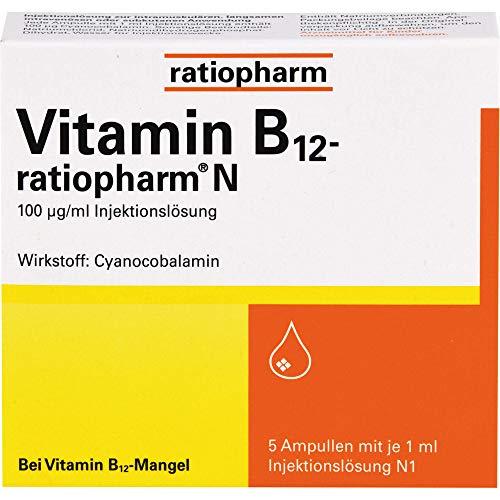 Vitamin-B12-ratiopharm N Ampullen zur Injektion, 5 St. Ampullen