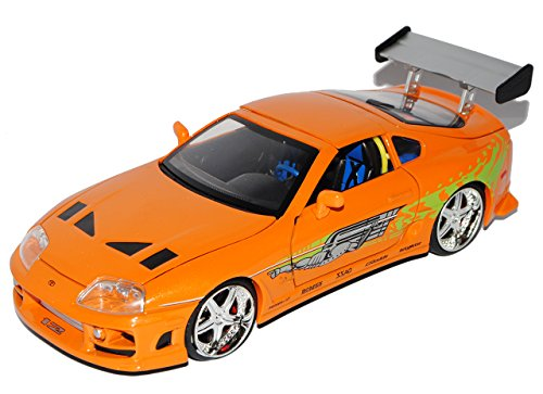 Toyota Supra Orange Brian´s Paul Walker The Fast and The Furious 1/24 Jada Modell Auto