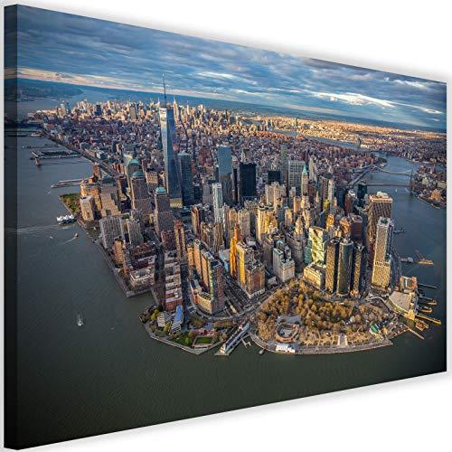 Feeby Leinwandbilder New York City Bilder Kunstdruck Manhattan Stadt bunt 90x60 cm