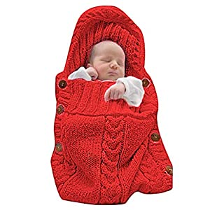 crib bedding and baby bedding xmwealthy newborn baby wrap swaddle blanket knit sleeping bag sleep sack stroller wrap for baby(red) (0-6 month)