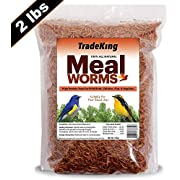 TradeKing 2 lb Dried Mealworms - High Protein Treat for Wild Birds, Chicken, Fish & Reptiles