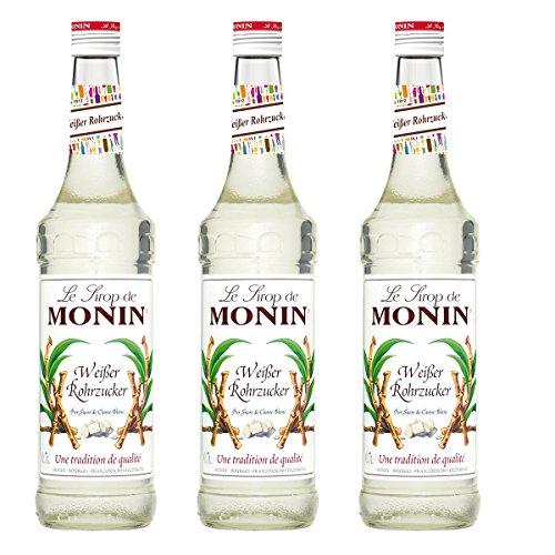 Monin Sirup Weißer Rohrzucker, 0,7L 3er Pack