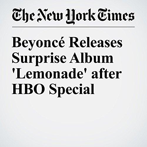 Beyoncé Releases Surprise Album 'Lemonade' after HBO Special audiobook cover art