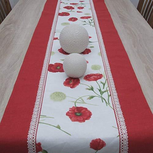Wunderbare Tischläufer, das Beste Geschenk für die schönste Küche von HomeAtelier, Roter Mohn, 100x40cm,130x40cm, 150x40cm, 170x40cm