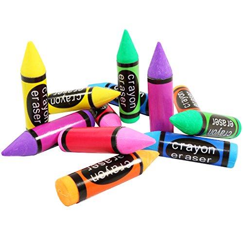 30gomas de borrar con formas de crayón para niños