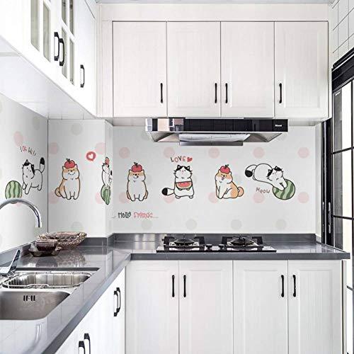 MMLFY Muursticker keuken stickers keuken oliedicht hoge temperatuur waterdichte tegel kast bereik kap gerepareerd muur stickers