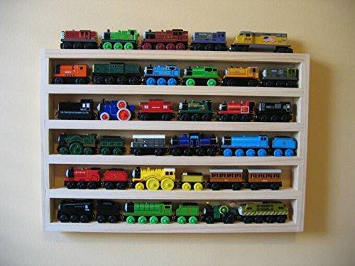 Train Rack Mega - Thomas Train Wooden Storage Display Wall Rack Shelf Play Table Accessory Case for Brio Chuggington Melissa and Doug