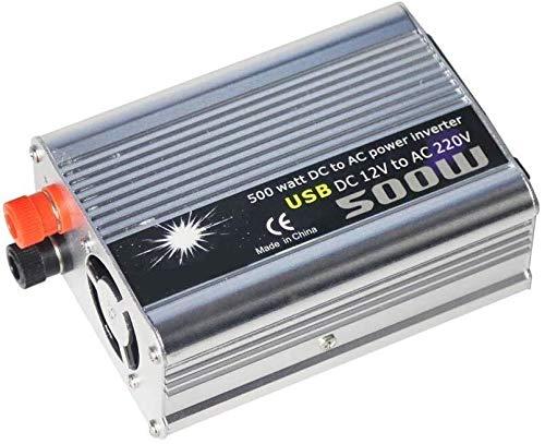 YHDQ Car Power Inverter 500W Power Inverter DC 12 / 24V AC 110 / 240V Transformator Auto-Ladegerät Feuerzeug-Adapter mit 3 Pin-Stecker und USB-Auto-Konverter, 220V, 24V Car Power Inverter