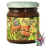 yoaxia ® Marke Set - FLYING GOOSE Würzpaste für Pho (vietnamesische Suppe) + ein kleines Glückspüppchen - Holzpüppchen