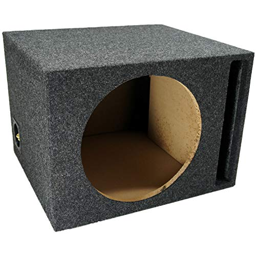"Car Audio Single 12"" Vented Subwoofer Stereo Sub Box Ported Enclosure 5/8"" MDF"