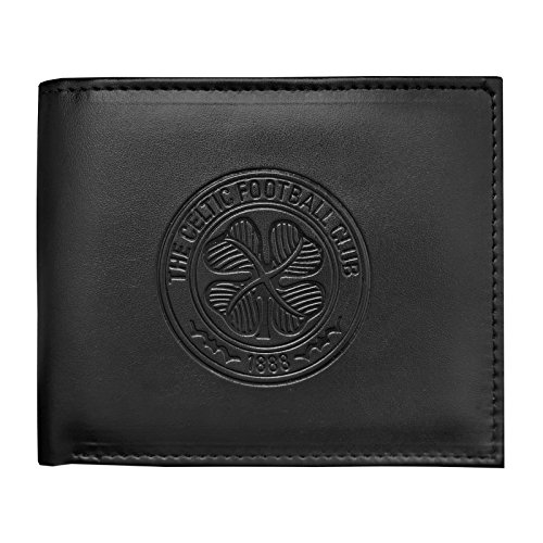 Celtic Football Club Official Gift Embossed Crest Money Wallet Black